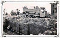 Vintage construction scene STL Hills